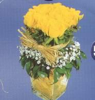 Eskişehir anneler günü çiçek yolla  Cam vazoda 9 Sari gül