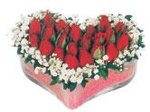 Eskişehir çiçekçi telefonları  mika kalpte kirmizi güller 9