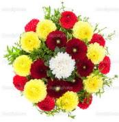Eskişehir çiçekçi mağazası  13 adet mevsim çiçeğinden görsel buket