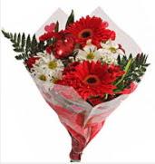 Mevsim çiçeklerinden görsel buket  Eskişehir çiçekçiler