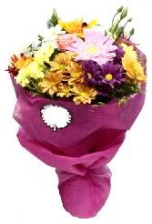 1 demet karışık görsel buket  Eskişehir anneler günü çiçek yolla
