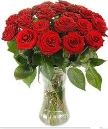 Eskişehir çiçek mağazası , çiçekçi adresleri  Vazoda 15 adet kırmızı gül tanzimi