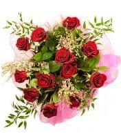 12 adet kırmızı gül buketi  Eskişehir 14 şubat sevgililer günü çiçek