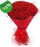 51 adet kırmızı gül buketi özel hissedenlere  Eskişehir çiçek siparişi sitesi