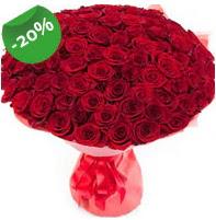Özel mi Özel buket 101 adet kırmızı gül  Eskişehir anneler günü çiçek yolla