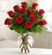 Vazo içerisinde 12 kırmızı gül  Eskişehir çiçek satışı