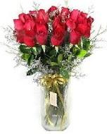 27 adet vazo içerisinde kırmızı gül  Eskişehir İnternetten çiçek siparişi
