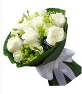 9 adet beyaz gül buketi  Eskişehir çiçek siparişi sitesi