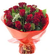 12 adet görsel bir buket tanzimi  Eskişehir çiçek siparişi vermek