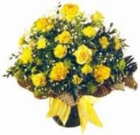 Eskişehir çiçek , çiçekçi , çiçekçilik  Sari gül karanfil ve kir çiçekleri
