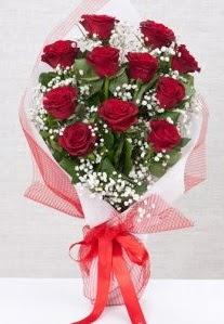 11 kırmızı gülden buket çiçeği  Eskişehir 14 şubat sevgililer günü çiçek