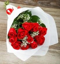 9 kırmızı gülden buket çiçeği  Eskişehir çiçek gönderme