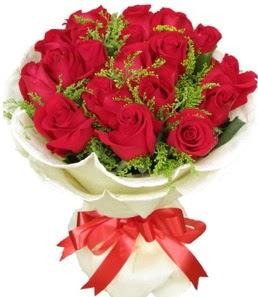 19 adet kırmızı gülden buket tanzimi  Eskişehir çiçek servisi , çiçekçi adresleri