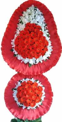 Eskişehir online çiçek gönderme sipariş  Çift katlı kaliteli düğün açılış sepeti