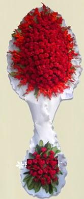 Çift katlı kıpkırmızı düğün açılış çiçeği  Eskişehir anneler günü çiçek yolla