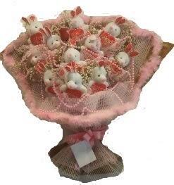 12 adet tavşan buketi  Eskişehir çiçek mağazası , çiçekçi adresleri