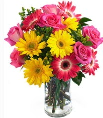 Vazoda Karışık mevsim çiçeği  Eskişehir çiçekçi mağazası