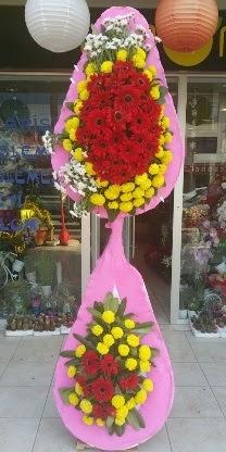 Çift katlı düğün nikah açılış çiçek modeli  Eskişehir çiçekçiler