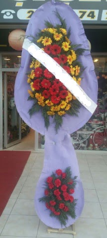 Çift katlı nikah düğüne çiçek modeli  Eskişehir internetten çiçek siparişi