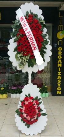 Çift katlı düğün nikah çiçeği modeli  Eskişehir çiçek siparişi sitesi