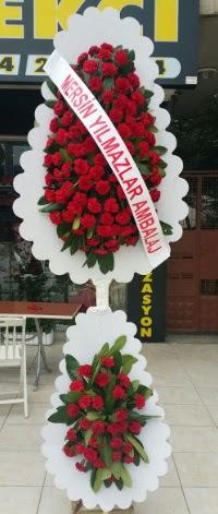Çift katlı düğün nikah çiçeği modeli  Eskişehir hediye çiçek yolla
