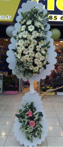 Çift katlı düğün nikah açılış çiçeği  Eskişehir çiçekçi telefonları