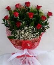 11 adet kırmızı gülden görsel çiçek  Eskişehir çiçek satışı