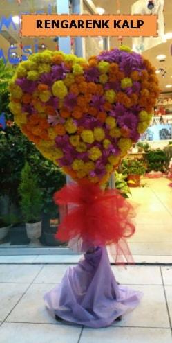 Ankara mevsim çiçeklerinden kalp perförje  Eskişehir çiçekçi telefonları