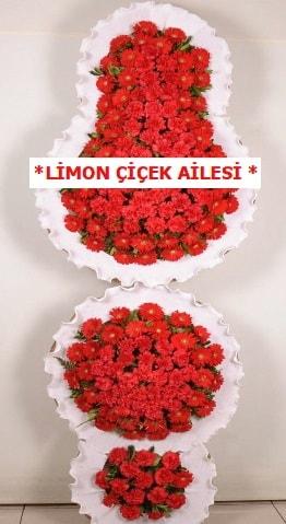 3 katlı kırmızı düğün açılış çiçeği  Eskişehir çiçek gönderme