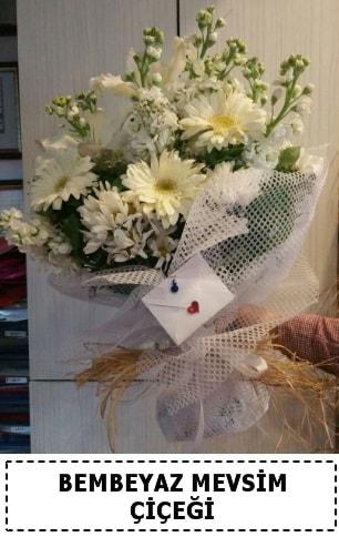 Bembeyaz görsel mevsim çiçek buketi  Eskişehir çiçek yolla