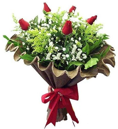 5 adet gülden buket  Eskişehir çiçek gönderme sitemiz güvenlidir