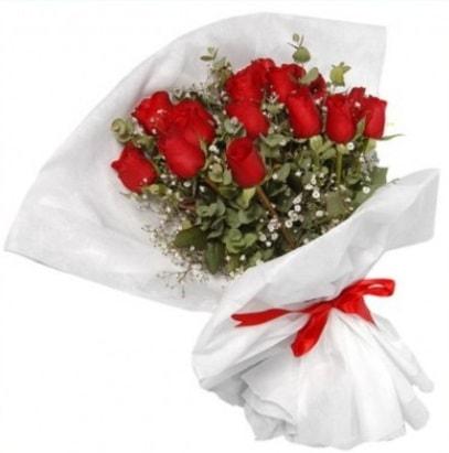 9 adet kırmızı gül buketi  Eskişehir çiçekçi mağazası