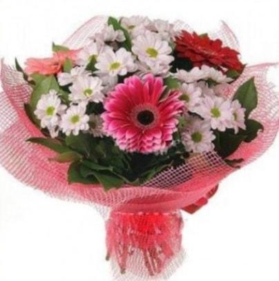 Gerbera ve kır çiçekleri buketi  Eskişehir internetten çiçek siparişi