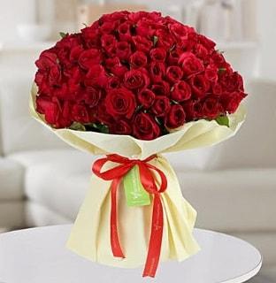 101 adet kırmızı gül buketi koca demet  Eskişehir internetten çiçek siparişi