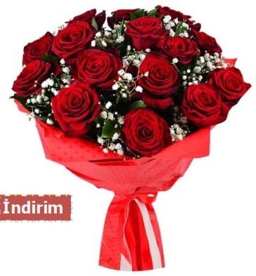 12 Adet kırmızı aşk gülleri  Eskişehir çiçek satışı
