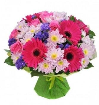Karışık mevsim buketi mevsimsel buket  Eskişehir çiçek satışı