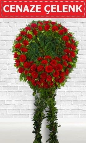 Kırmızı Çelenk Cenaze çiçeği  Eskişehir İnternetten çiçek siparişi