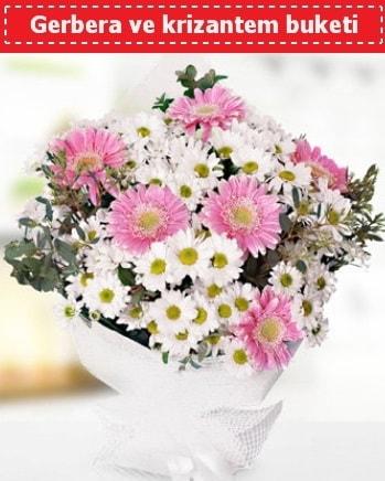 Papatya ve Gerbera Buketi  Eskişehir çiçek , çiçekçi , çiçekçilik