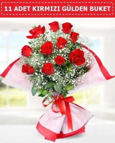 11 Adet Kırmızı Gül Buketi  Eskişehir internetten çiçek siparişi