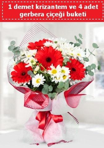 Krizantem ve Gerbera Buketi  Eskişehir çiçek siparişi sitesi