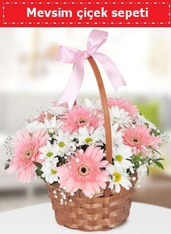 Mevsim kır çiçek sepeti  Eskişehir çiçek , çiçekçi , çiçekçilik