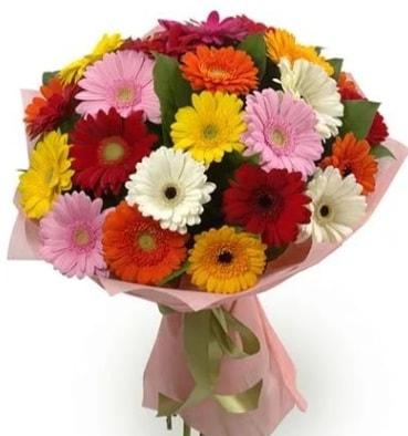 Karışık büyük boy gerbera çiçek buketi  Eskişehir çiçek satışı
