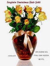 Eskişehir internetten çiçek satışı  mika yada Cam vazoda 12 adet sari gül